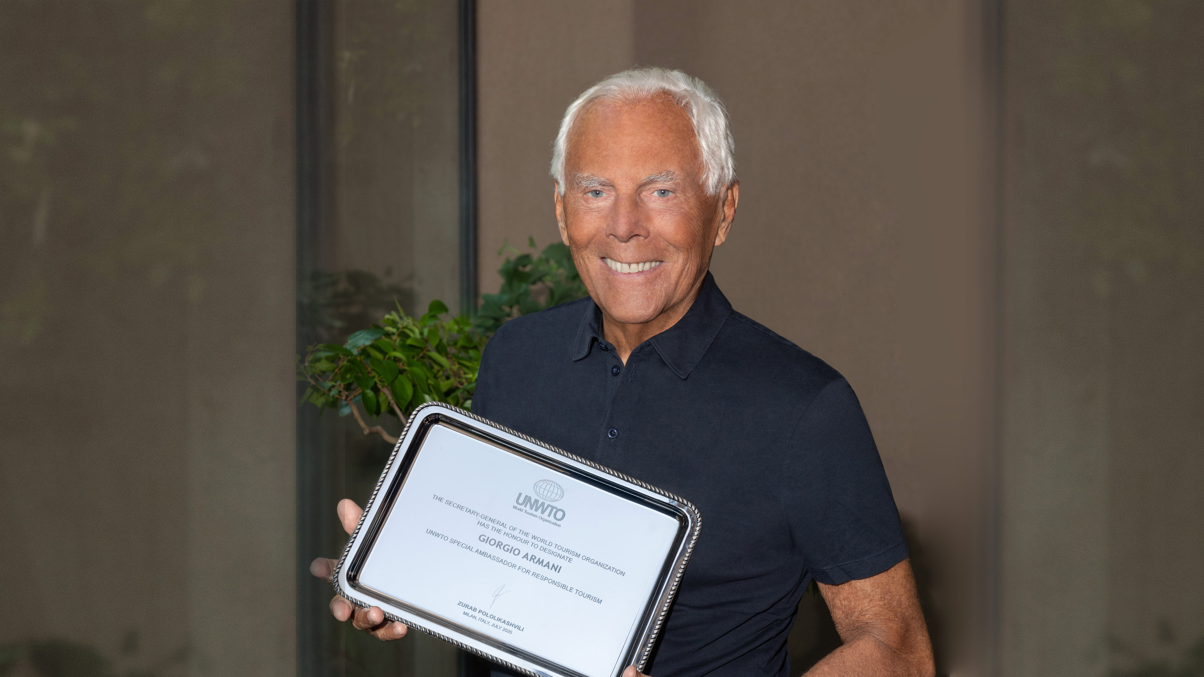 Giorgio Armani and Gino Sorbillo Named New Special Ambassadors for  Tourism as UNWTO Leads Restart of Tourism in Italy