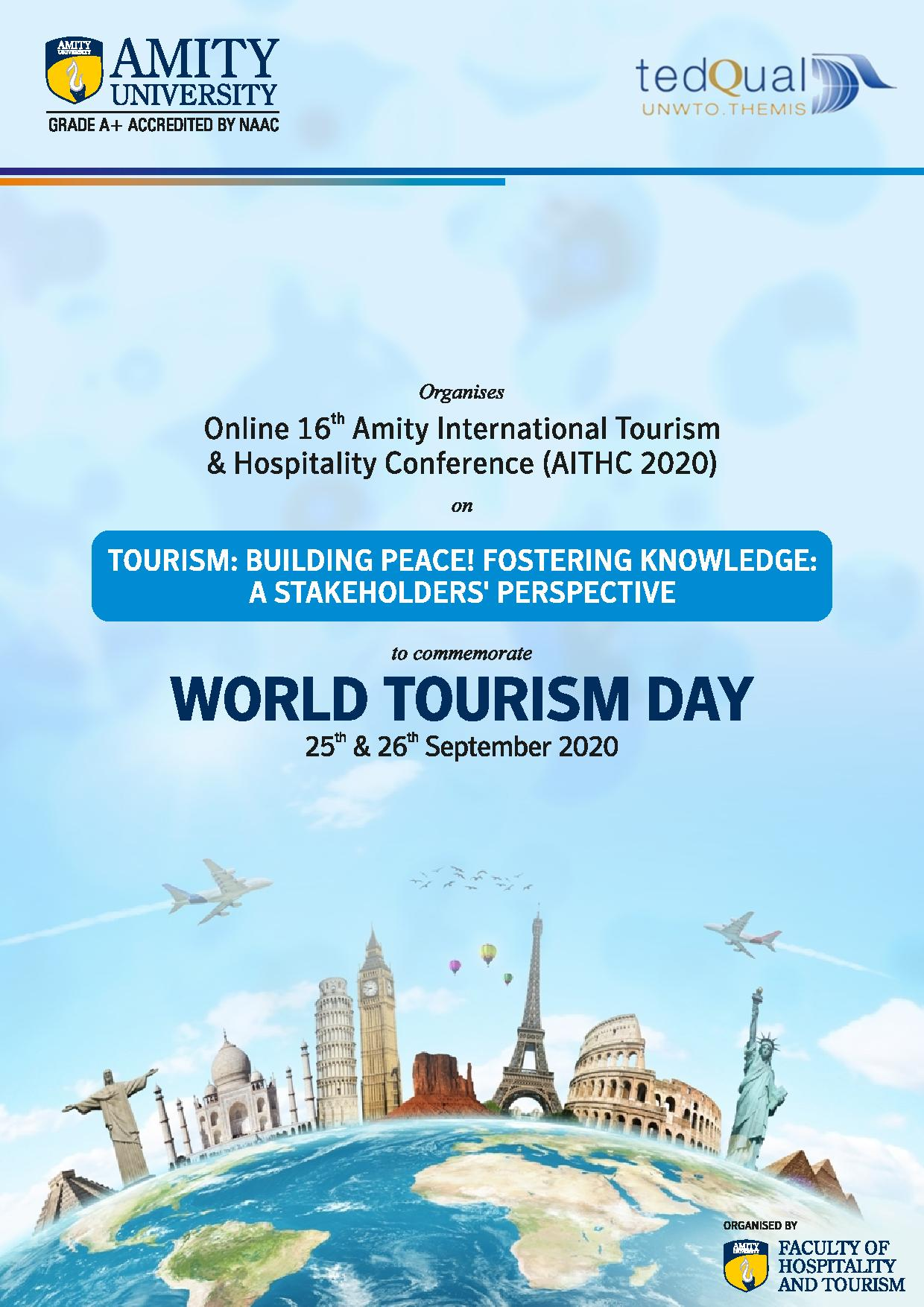 Online 16th Amity International Tourism & Hospitality Conference -2020