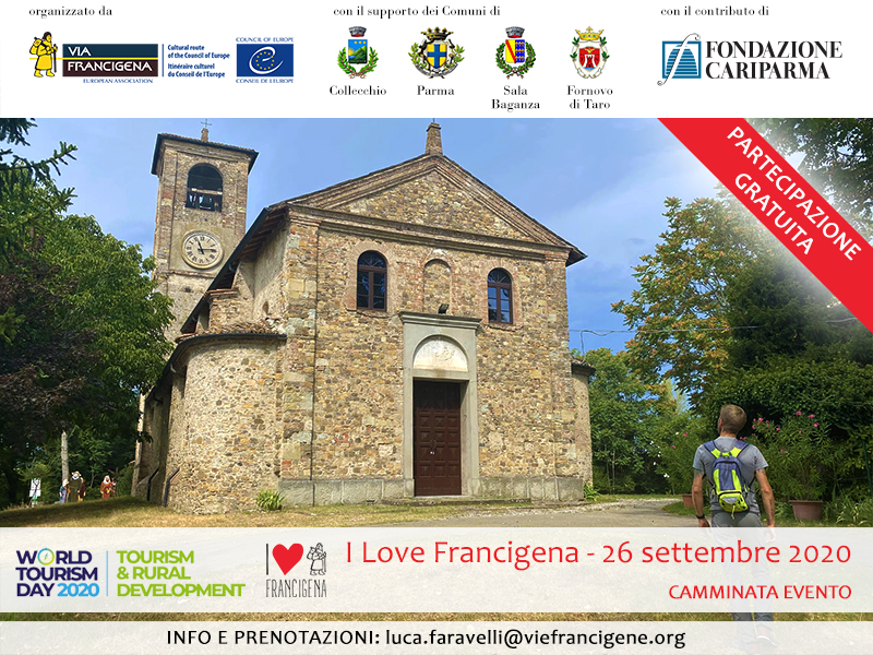 "Walk with us! Join ""I love Francigena"" event on 26 September and 3 October"