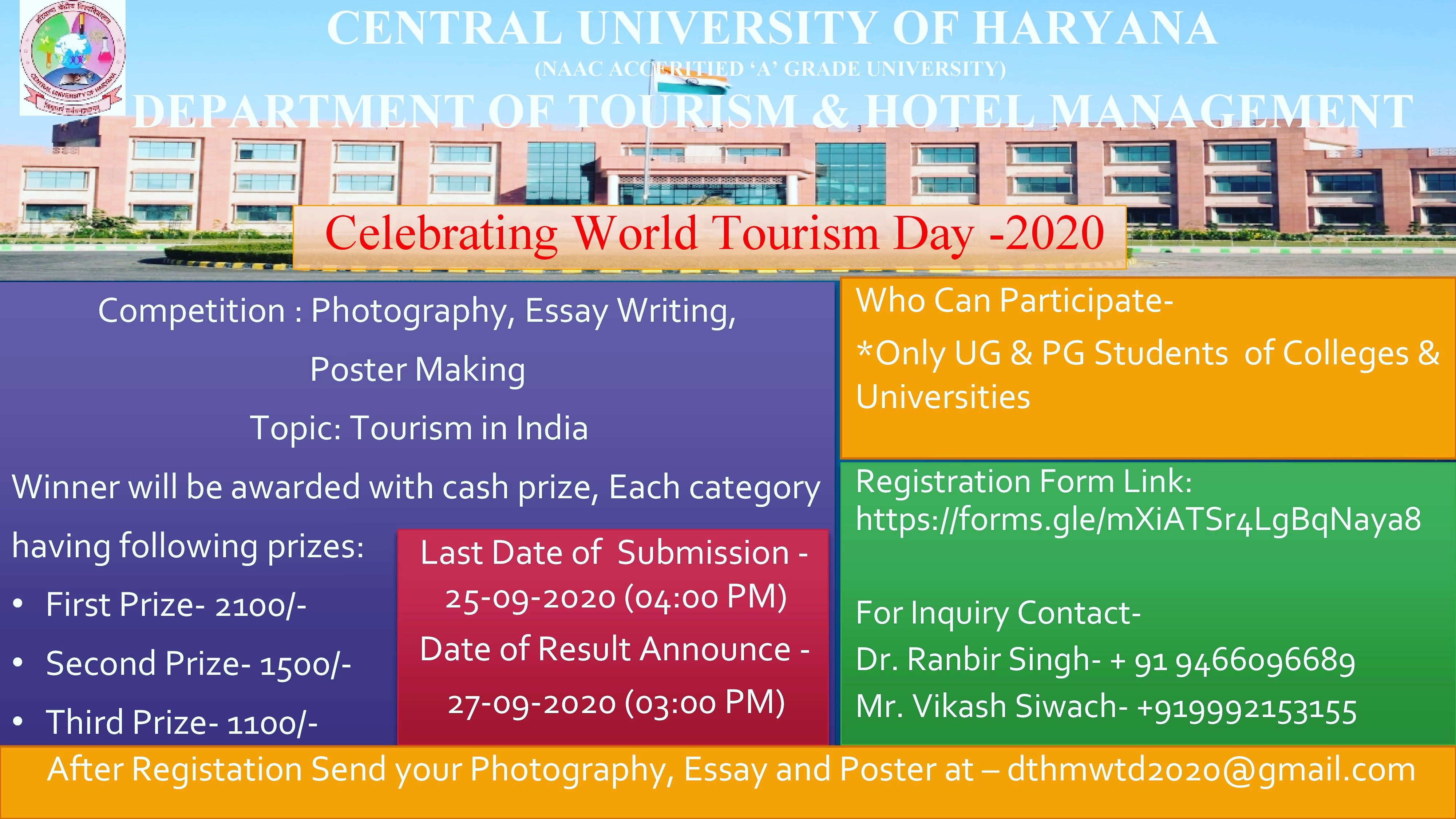 World Tourism Day Celebration 2020