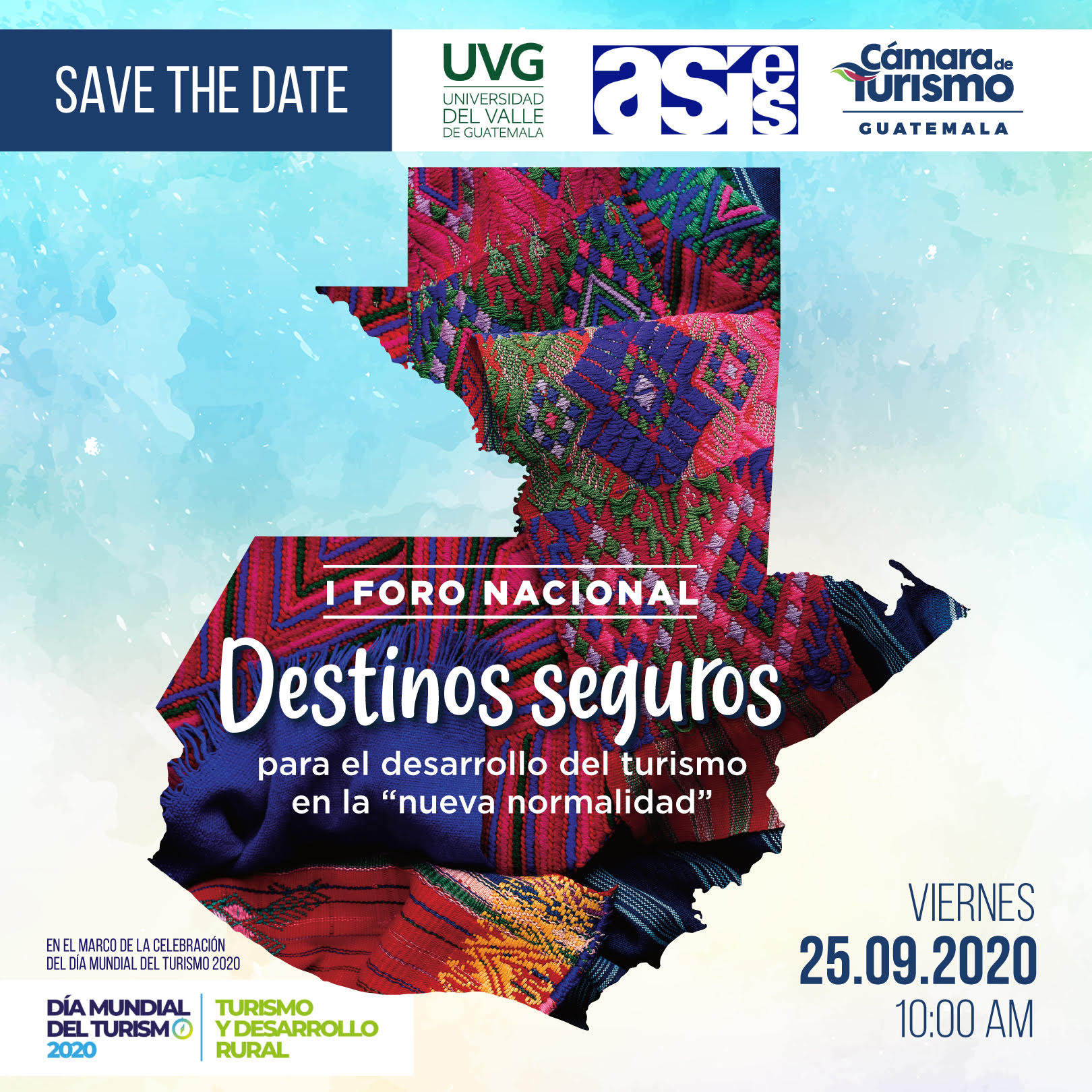 """I FORO NACIONAL Destinos Seguros para el desarrollo del turismo en la """"nueva normalidad"""""""