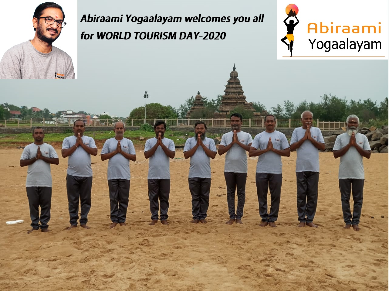 World Tourism Day 2020-Abiraami Yogaalayam celebrates sand sculpting event in Mamallapuram,India