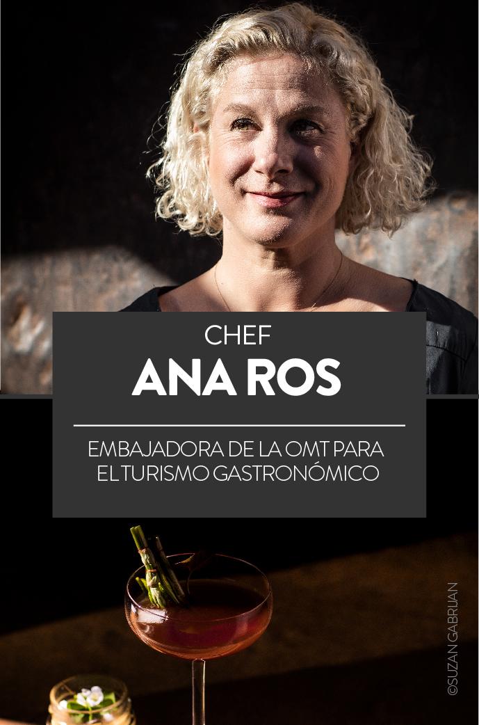 Ana Ros, chef, embajadora de la OMT para el turismo gastronómico