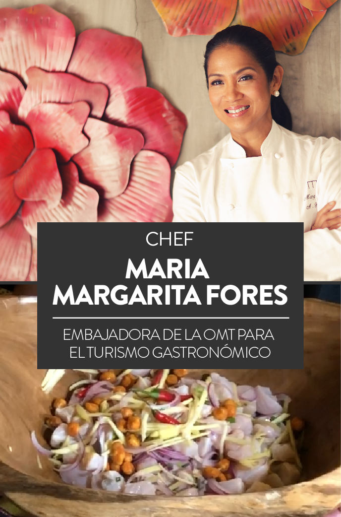 Margarita Forés, chef, embajadora de la OMT para el turismo gastronómico
