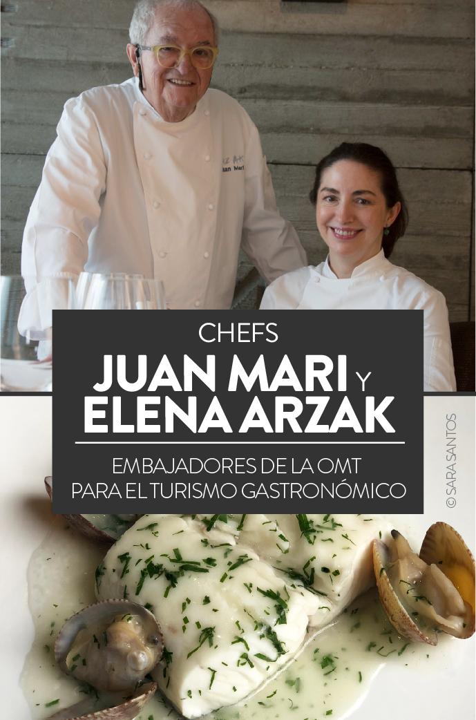 Juan Mari y Elena Arzak, chefs, embajadores de la OMT para el turismo gastronómico