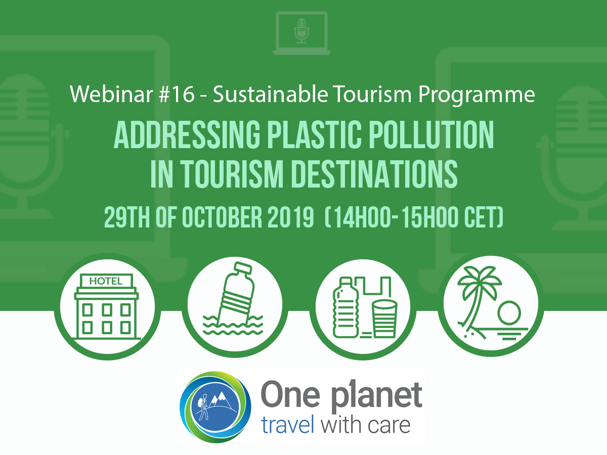 Webinar 16. Addressing plastic pollution in tourism destinations