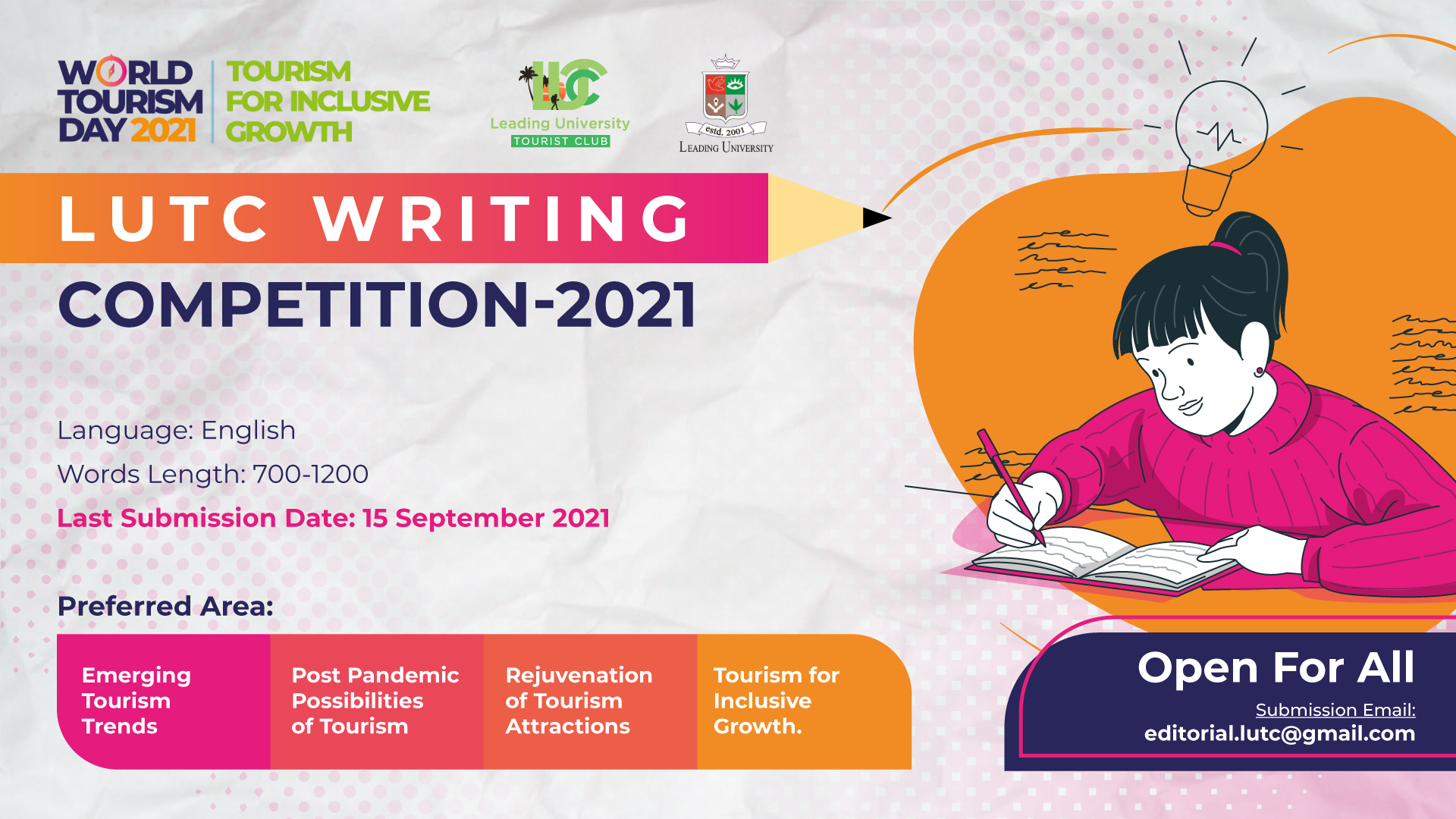 LUTC Writing Competition 2021