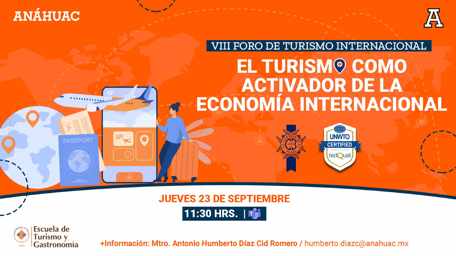 El turismo como activador de la economía internacional