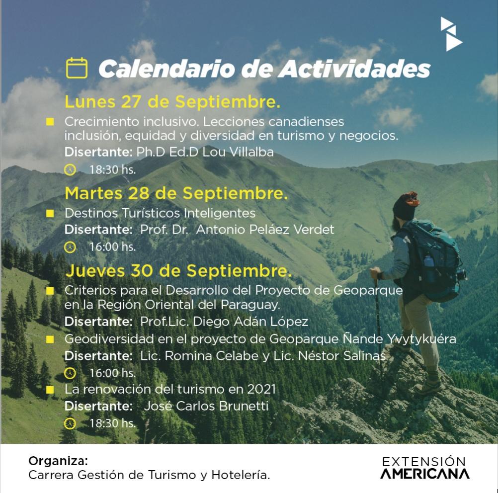 Semana de la Carrera de GESTIÓN DE TURISMO Y HOTELERÍA de la Universidad Americana