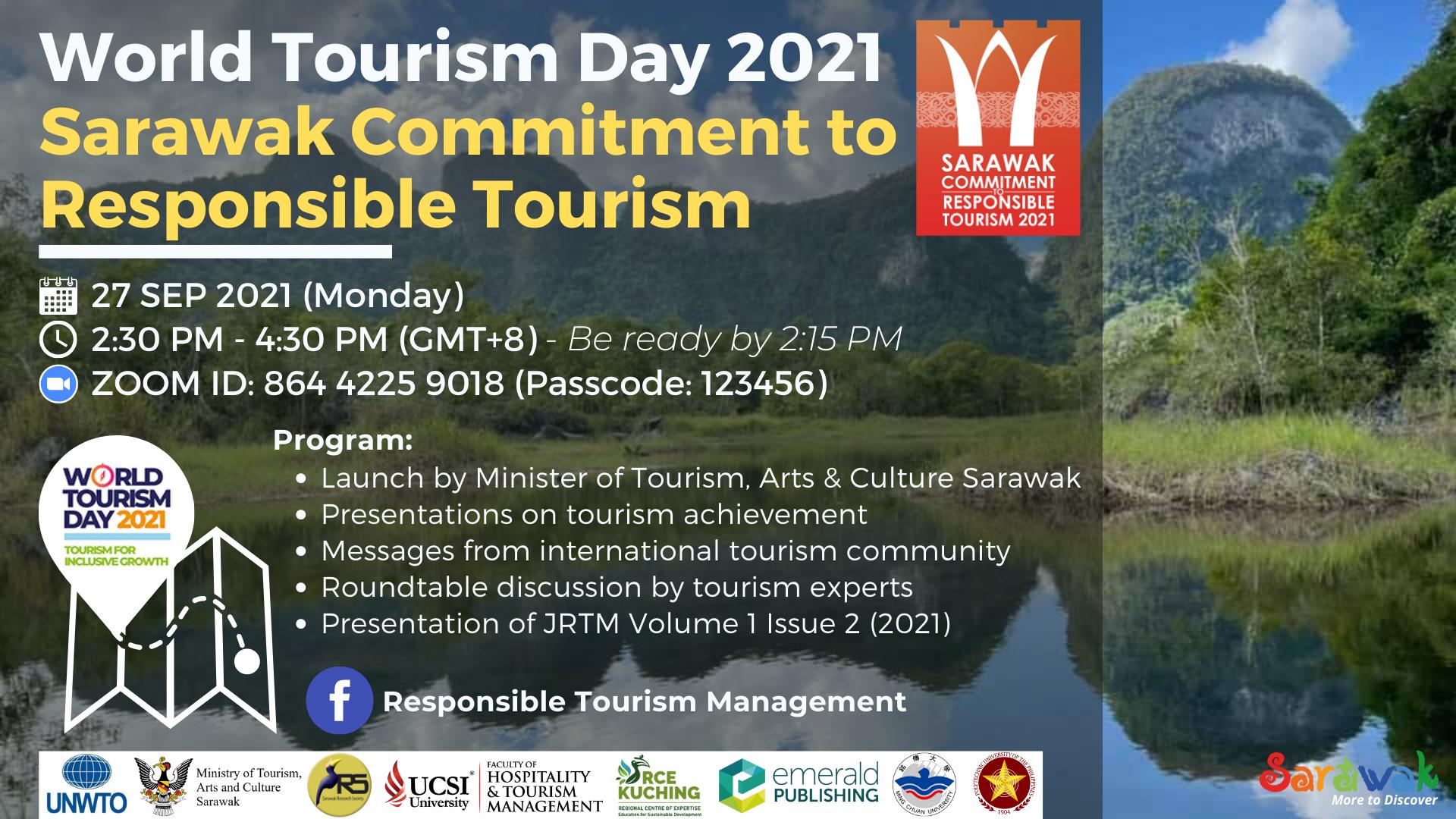 World Tourism Day 2021 - Sarawak Commitment to Responsible Tourism