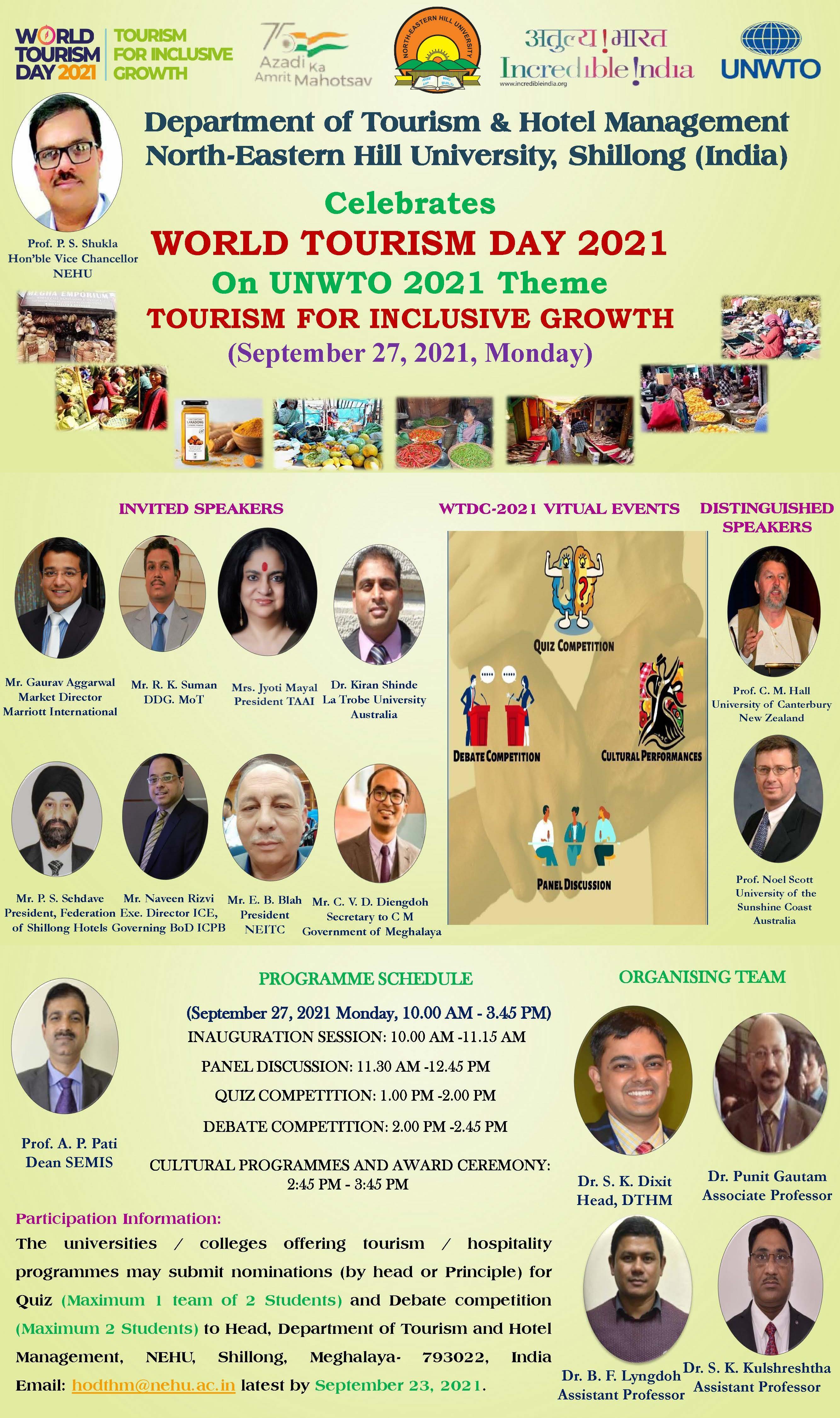 World Tourism Day 2021 on September 27