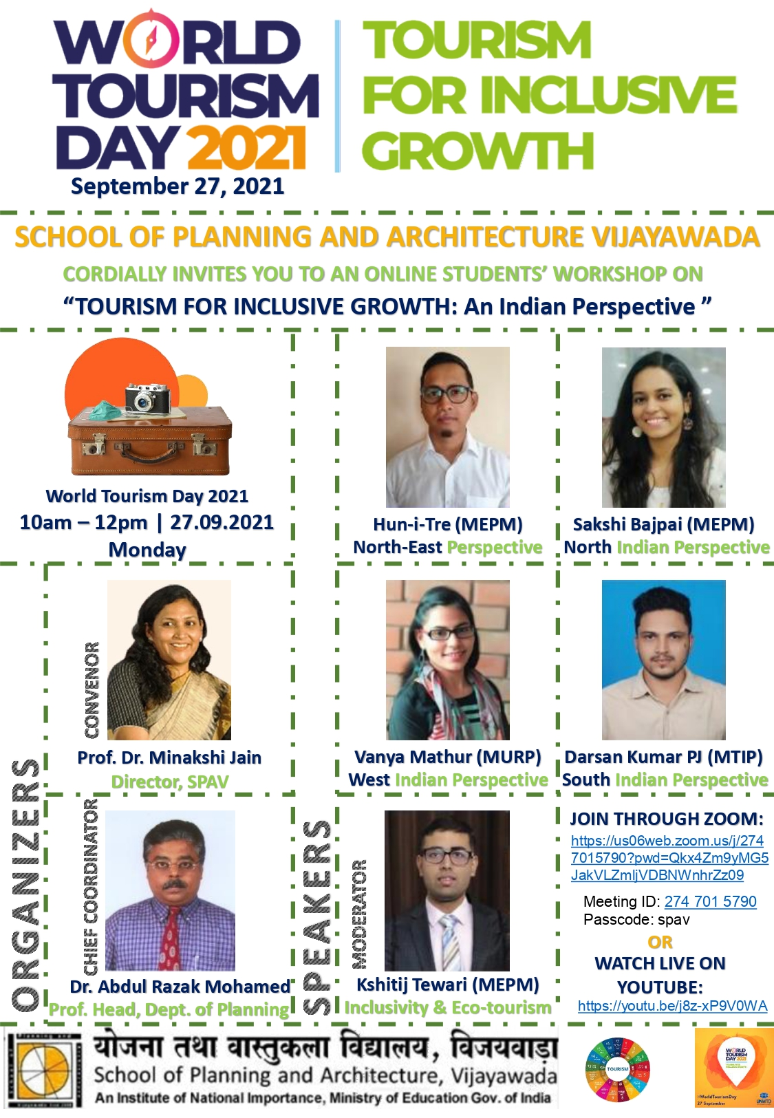 TOURISM FOR INCLUSIVE GROWTH-AN INDIAN PERSPECTIVE