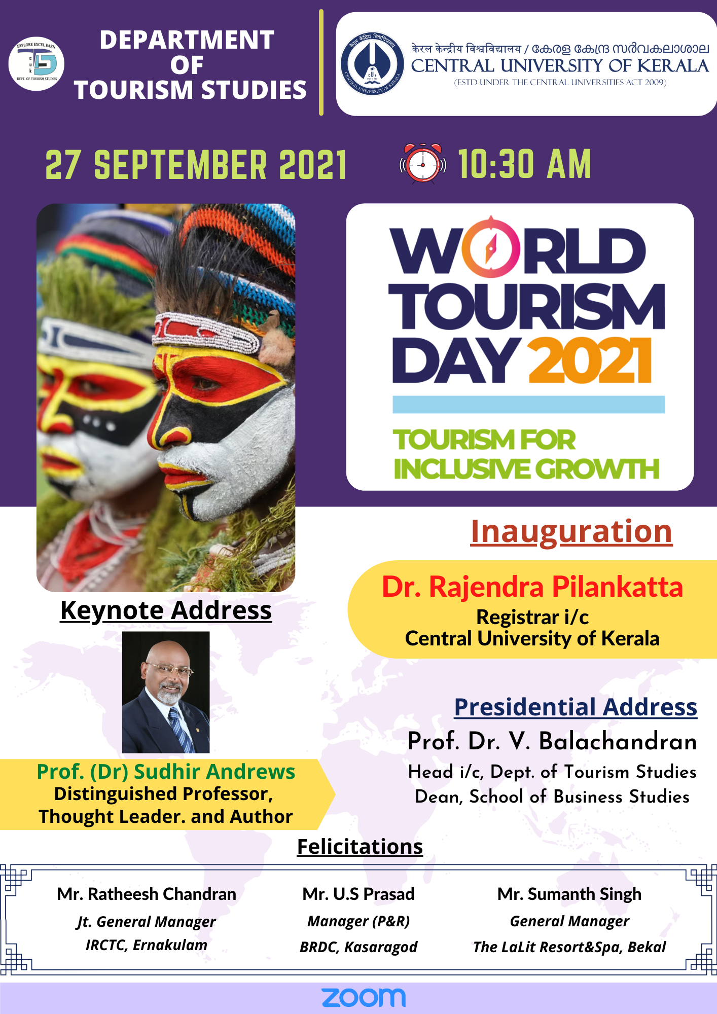 World Tourism Day 2021 at the Department of Tourism Studies
