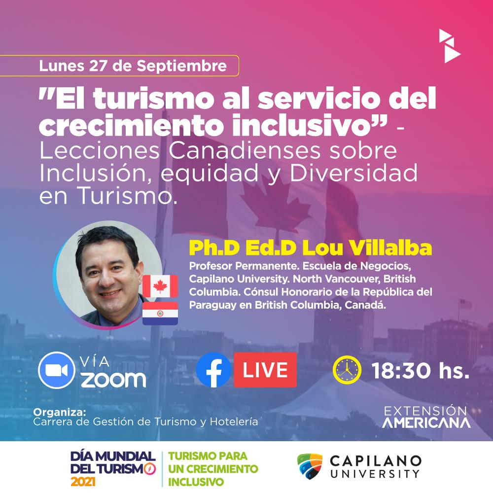 La charla será dictada vía zoom y transmitida via Facebook live (Turismo y Hotelería Universidad Americana)