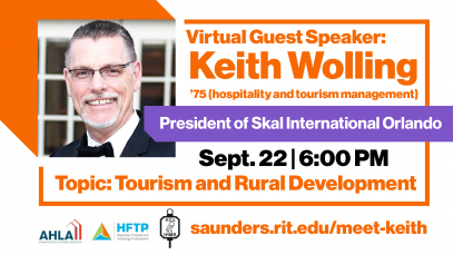 Tourism and rural development: Keith Wolling, President SKAL International Orlando