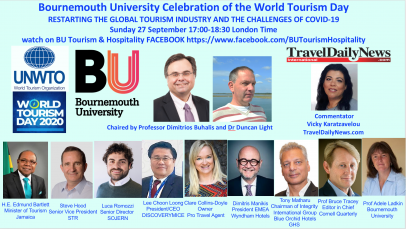 Bournemouth University Celebration of the World Tourism Day: RESTARTING THE GLOBAL TOURISM INDUSTRY AND THE CHALLENGES OF COVID-19