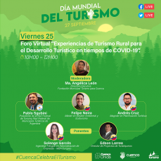 """Foro Virtual """"Experiencias de Turismo Rural para el Desarrollo Turístico en tiempos de COVID-19"""""""