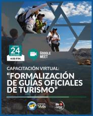 FORMALIZACIÓN DE LOS GUÍAS OFICIALES DE TURISMO