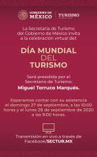 Celebración Virtual del Día Mundial del Turismo 2020 (Secretaría de Turismo de México)