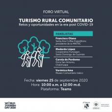 Foro Turismo rural comunitario: retos y oportunidades post COVID-19