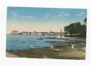 POREČ BATHS THROUGH HISTORY Exhibition 24. 9. – 3.10. / Nikola Tesla Street (tree-lined street in front of Bipa)  The first sea bath in Poreč was built on the island of Saint Nicholas in 1895 under the name Bagno Parentino. It was also known as Bagno Isola S. Nicolò. The construction was initiated by the Consortium of eminent personalities for the construction of the first sea bath, founded in 1893, and in the same year the Trieste architect Arduino Berlam designed the project of the baths in compliance wit