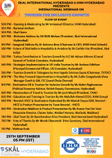 IIHM Hyderabad and Skal International Hyderabad Presents an International Webinar on Tourism for Inclusive Growth.