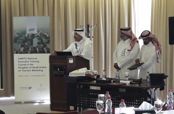 The UNWTO National Executive Training Course on Tourism Marketing finished on 10th November in Riyadh