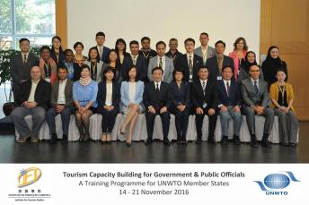 Secretary for Social Affairs and Culture visits IFT Taipa Campus and meets overseas tourism officials attending Professional Training Programme organised by IFT and UNWTO