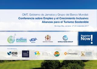 OMT, Gobierno de Jamaica y Grupo del Banco Mundial: Conferencia sobre Empleo y el Crecimiento Inclusivo: Alianzas para el Turismo Sostenible