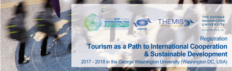 "UNWTO/GWU University ONLINE Course on ""Tourism as a Path to International Cooperation & Sustainable Development"""