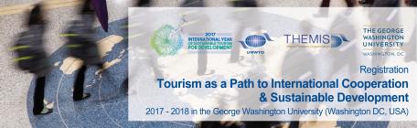"""UNWTO / GWU Curso universitario EN LÍNEA  sobre """"El turismo como vía para la cooperación internacional y el desarrollo sostenible"""""""