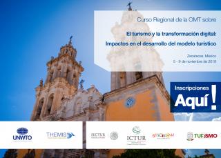 """Curso Regional de la OMT en México   """"El turismo y la transformación digital: Impactos en el desarrollo del modelo turístico"""""""