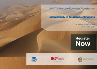 "MODUL University Dubai is to host the UNWTO workshop ""Sustainability in Tourism Destinations"" of the UAE Tourism Leadership Programme"