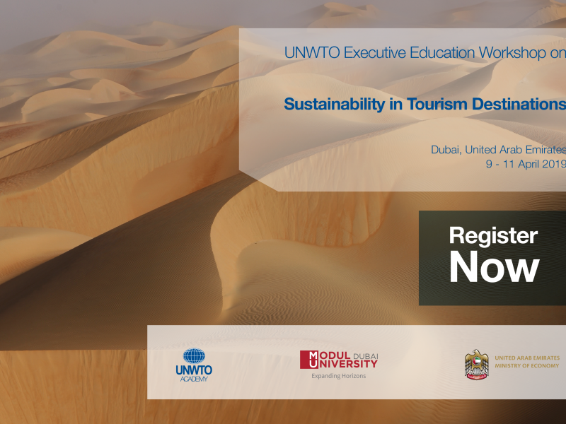 """MODUL University Dubai is to host the UNWTO workshop """"Sustainability in Tourism Destinations"""" of the UAE Tourism Leadership Programme"""