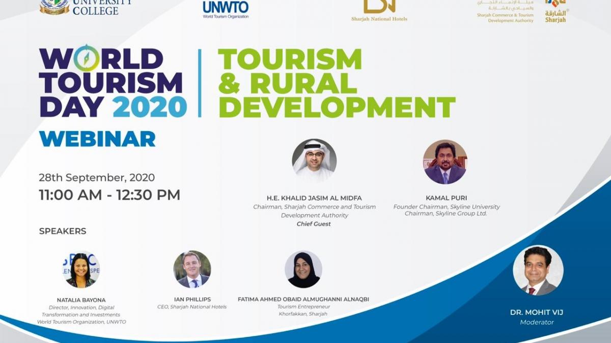 WEBINAR ON WORLD TOURISM DAY EVENT COLLABORATION by Sharjah Tourism