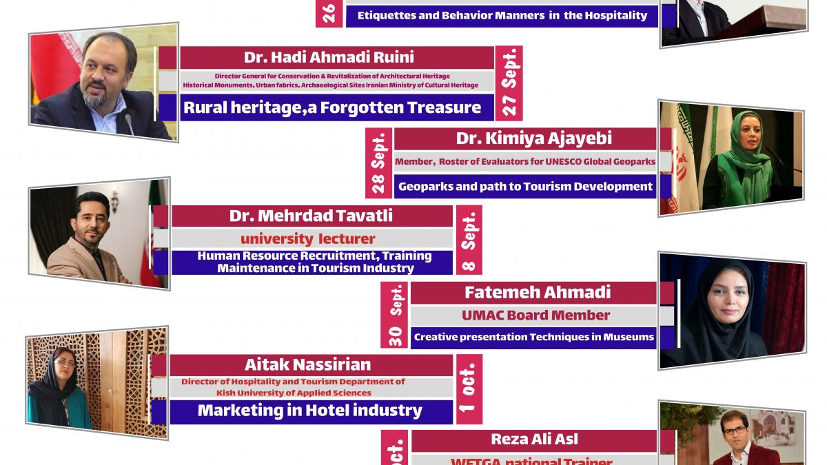 Webinars On The Ocation Of World Tourism Day in Iran
