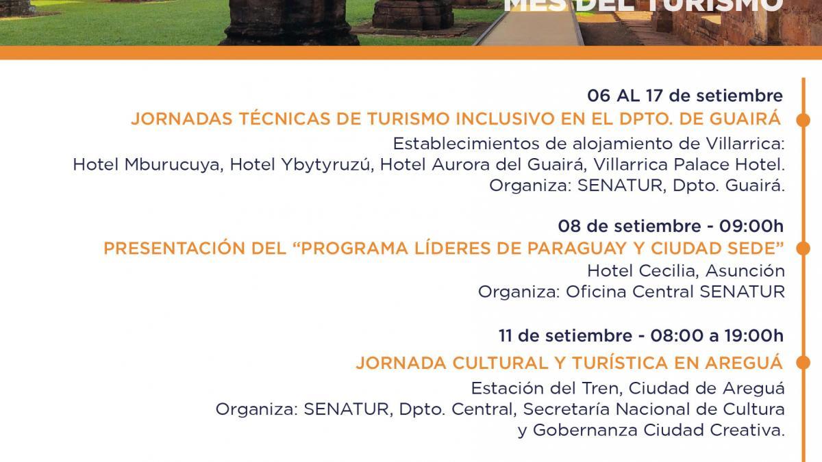 Actividades Semanales de la Secretaría Nacional de Turismos - SENATUR, Paraguay