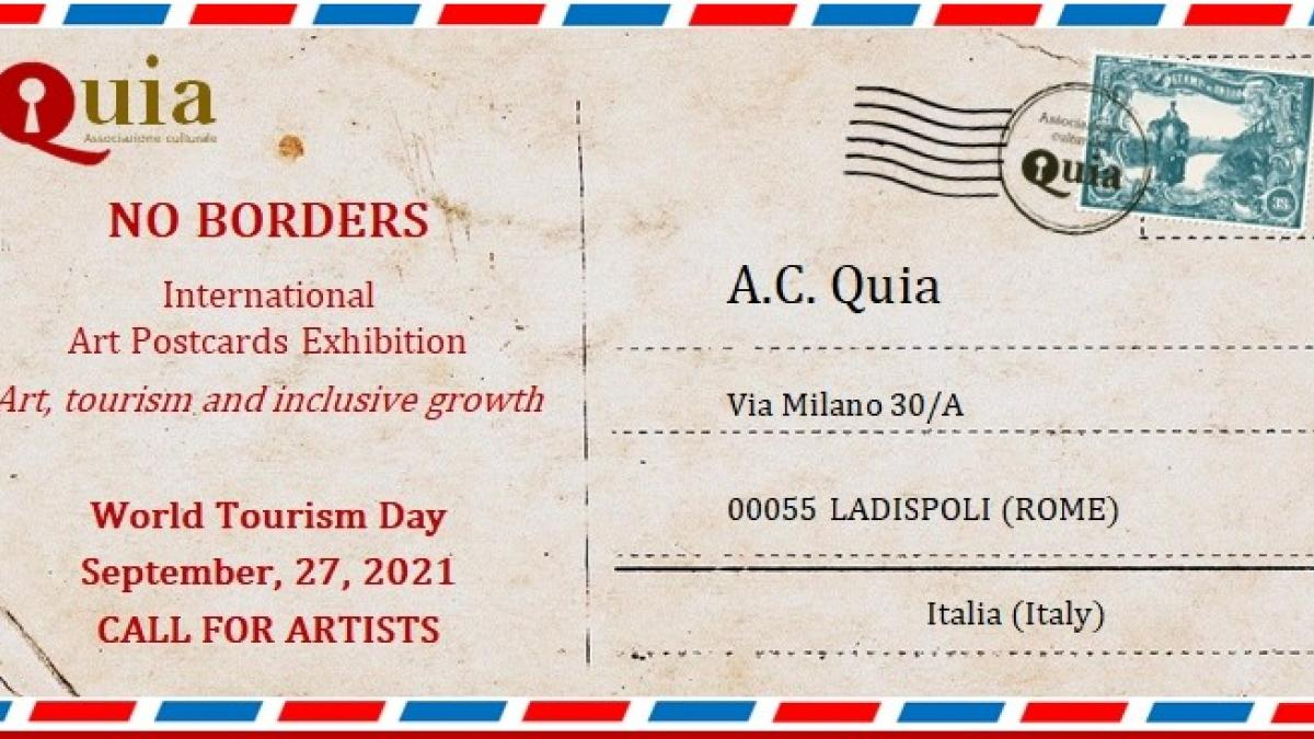 NO BORDERS International Art Postcards Exhibition Art, Tourism and Inclusive Growth World Tourism Day