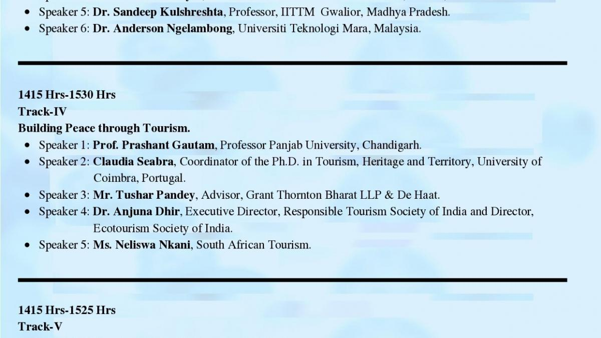 This Conclave – cum- Conference is aimed to be an outcome oriented academic endeavor to come out with a proposed White Paper for the reference of both public as well as private travel, aviation & hospitality trade partners.  The conference has received global acceptance & we have received confirmations from 45 International Speakers for deliberations across 08 conference tracks from countries including- United State, Canada, Germany, Portugal, United Kingdom, Spain, Italy, Romania, Finland, Turkey, South Af