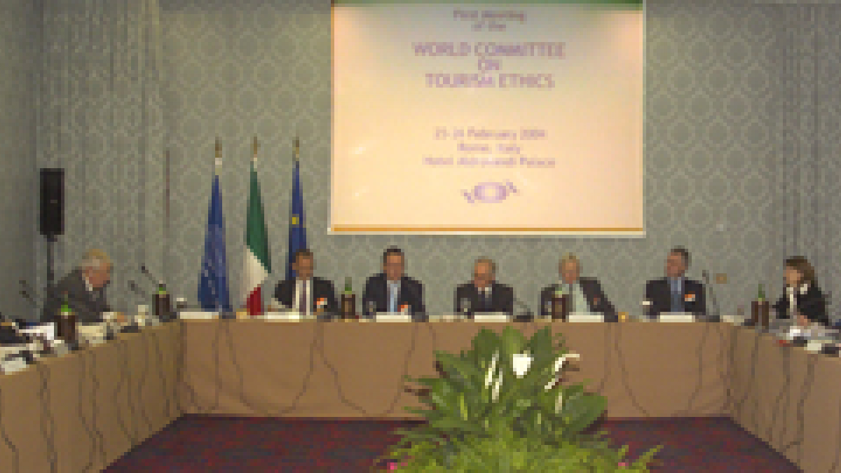 First meeting of the World Committee on Tourism Ethics