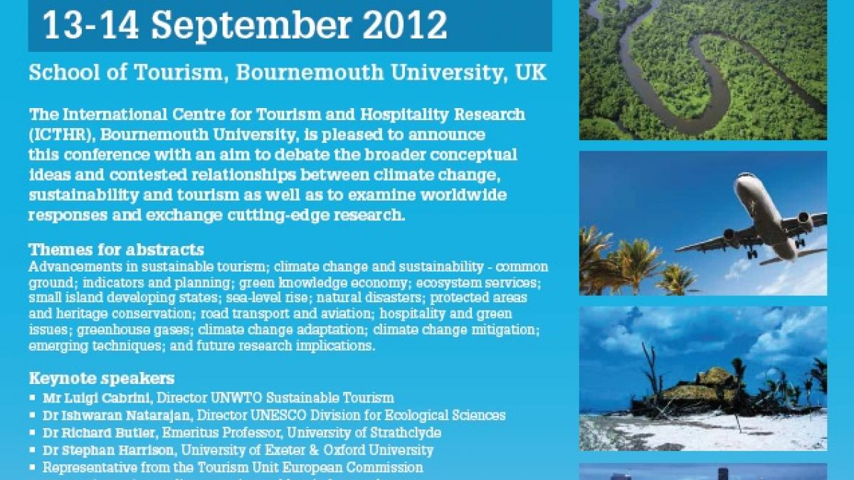 Second International Conference on Tourism, Climate Change and Sustainability