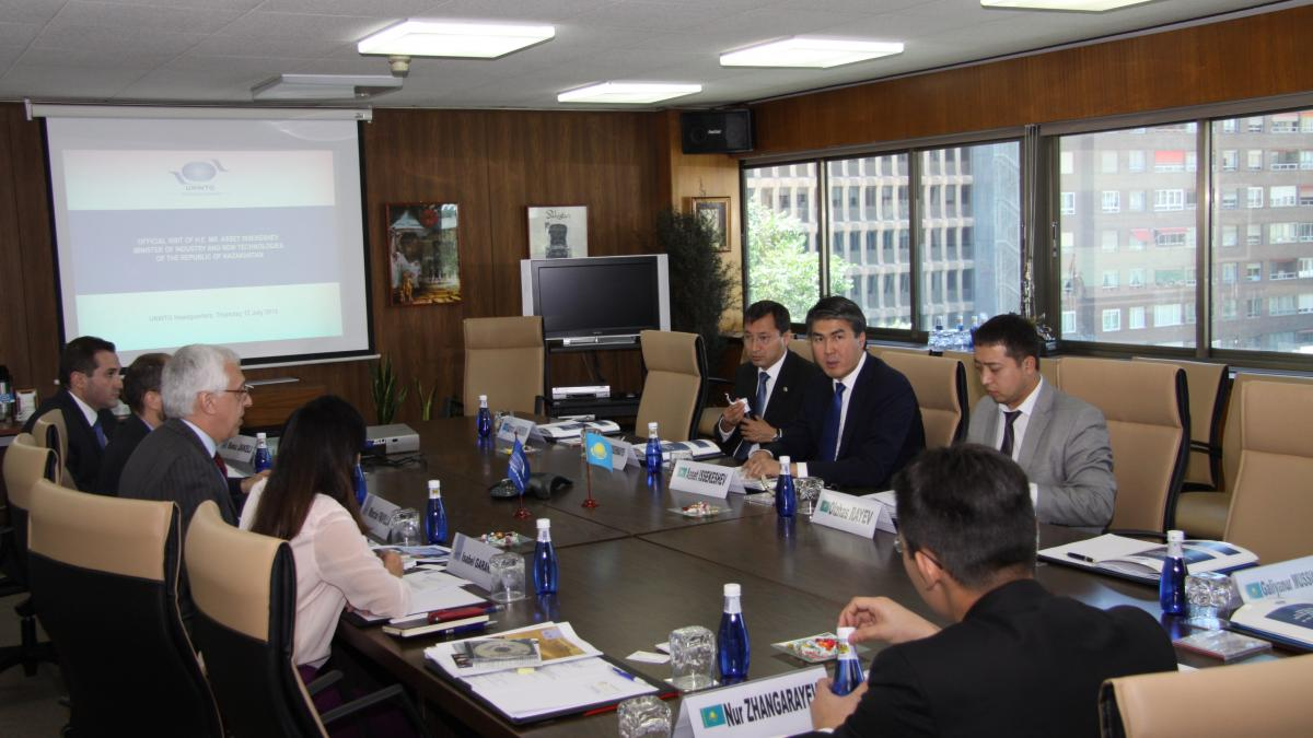 Visit of H.E. Mr. Asset Issekeshev, Minister of Industry and New Technologies of the Republic of Kazakhstan, 12 July 2012