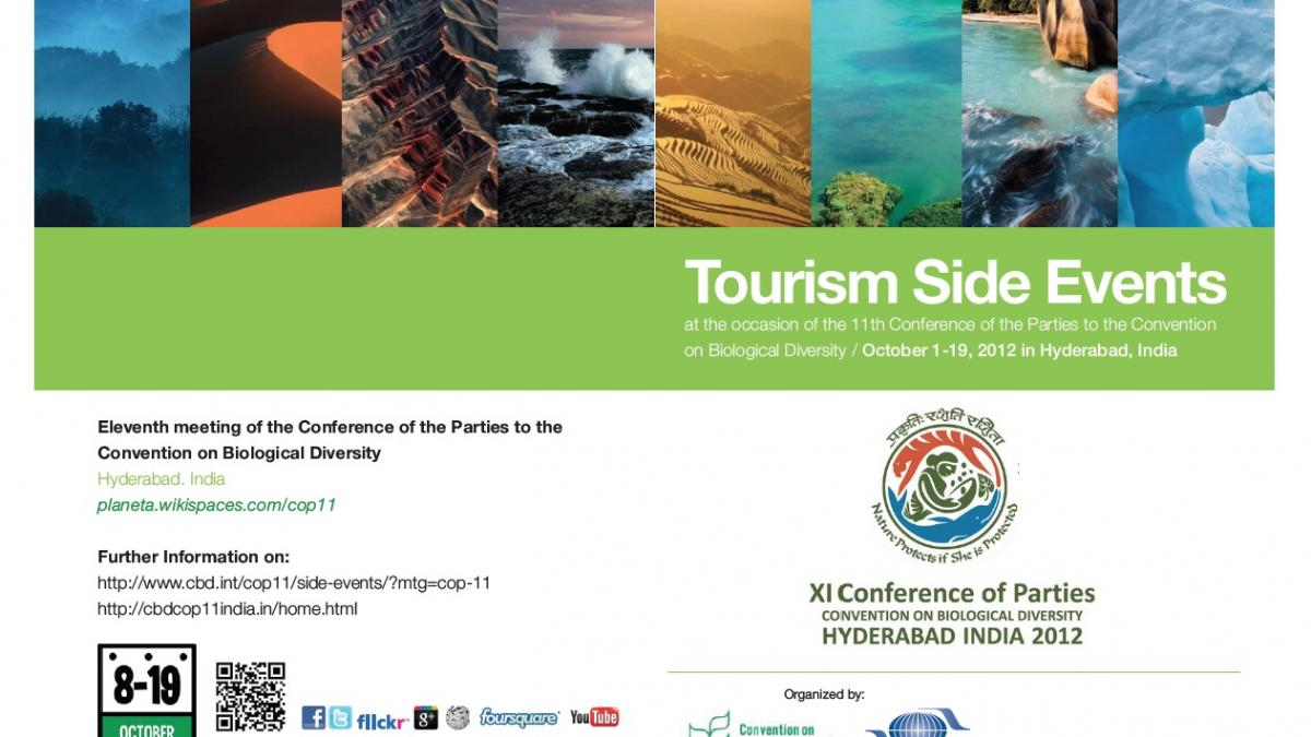 Tourism Side Events at the occasion of the 11th Conference of the Parties to the Convention on Biological Diversity