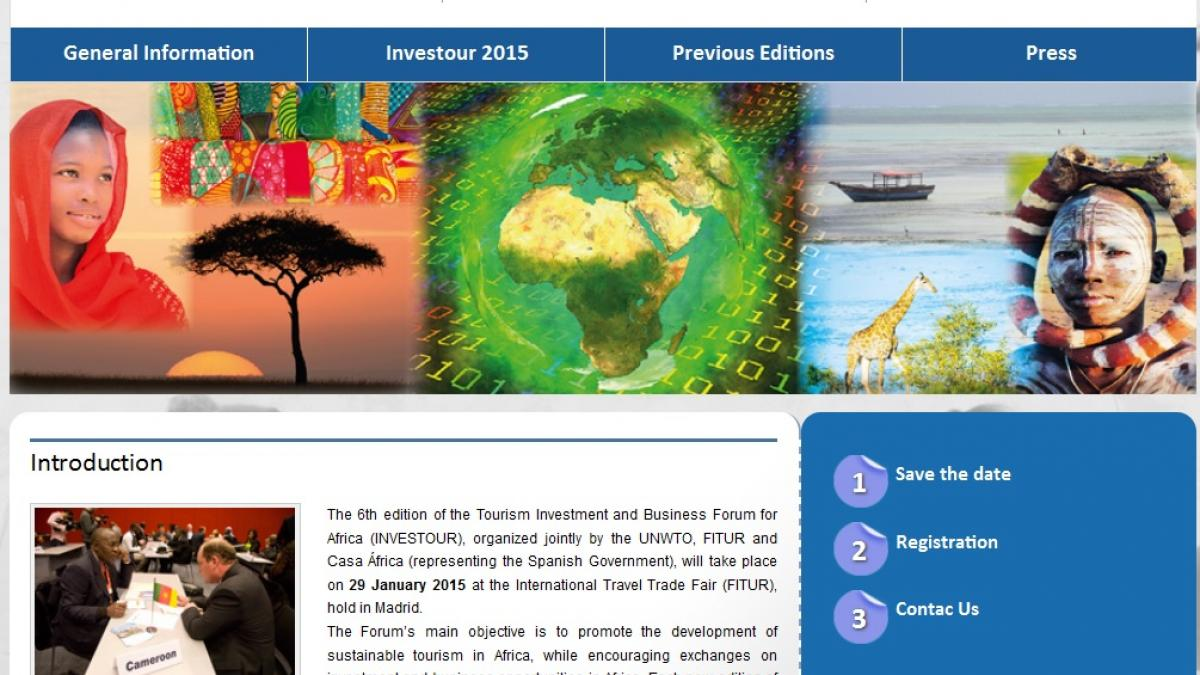 VI Tourism Investment and Business Forum for Africa (INVESTOUR)