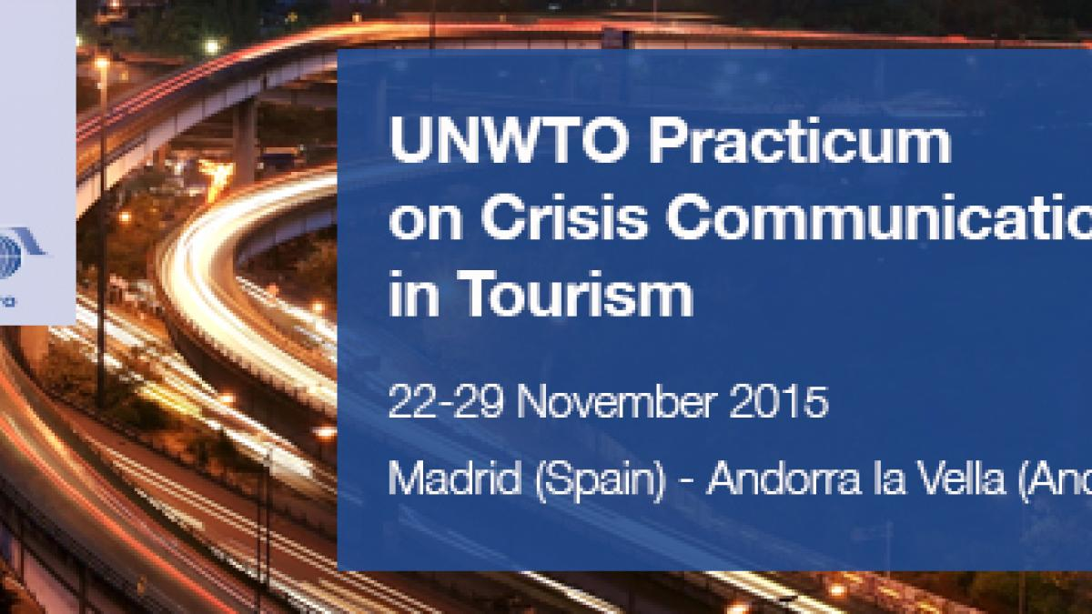 UNWTO Practicum Workshop on Crisis Communications in Tourism