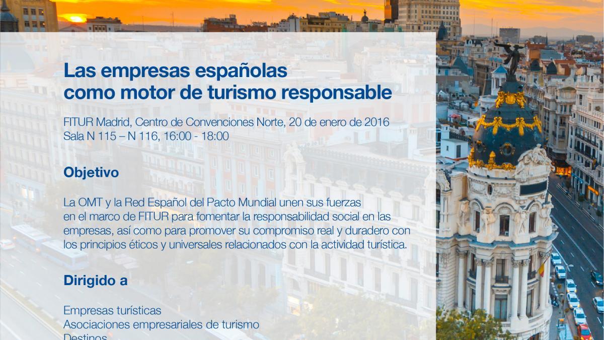 Las empresas españolas como motor del turismo responsable