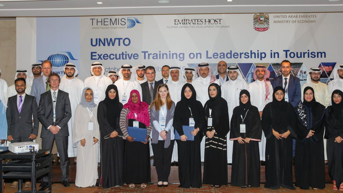 The UNWTO Executive Training Course in the United Arab Emirates on Leadership in Tourism  finished on 3rd November