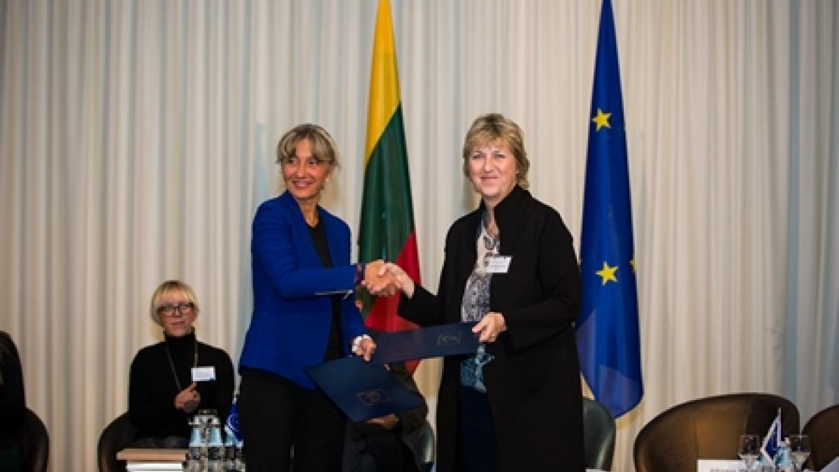 The ceremony of official handover of the joint Memorandum of Understanding between the Council of Europe and the UNWTO