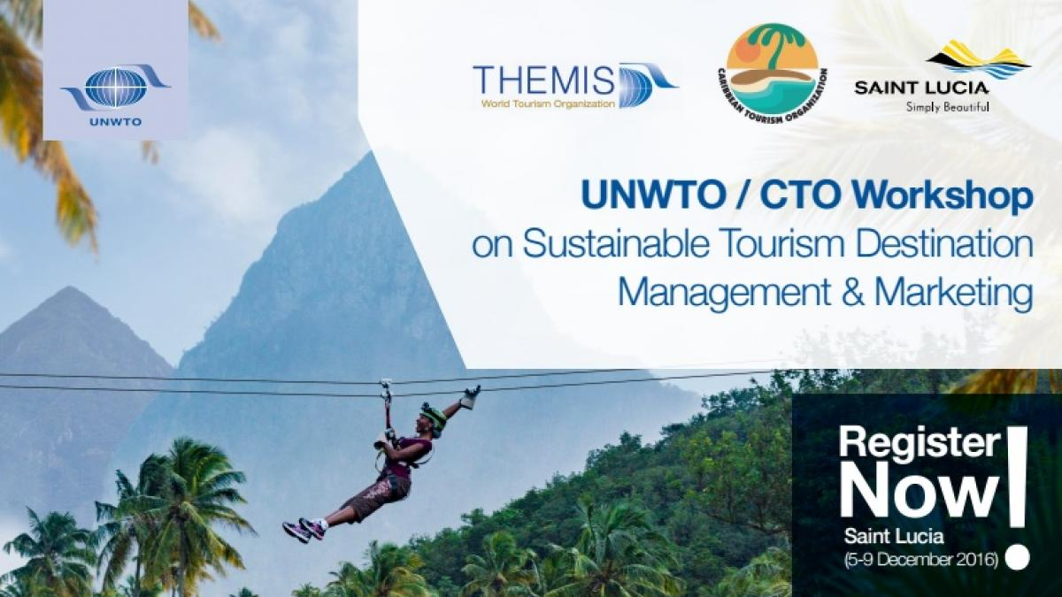 REGISTRATION for  the UNWTO/CTO Workshop on Sustainable Tourism Destination Management and Marketing with the collaboration of GSTC