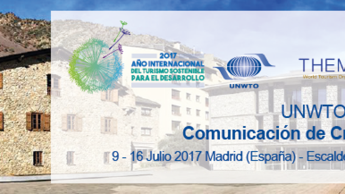 "REGISTRATION for UNWTO Practicum on ""Crisis Communications in Tourism"" (Edition in Spanish)"